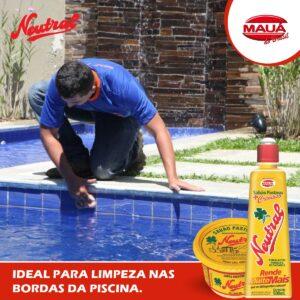 Limpeza das bordas das piscinas