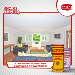 Sua casa bem longe das bactérias