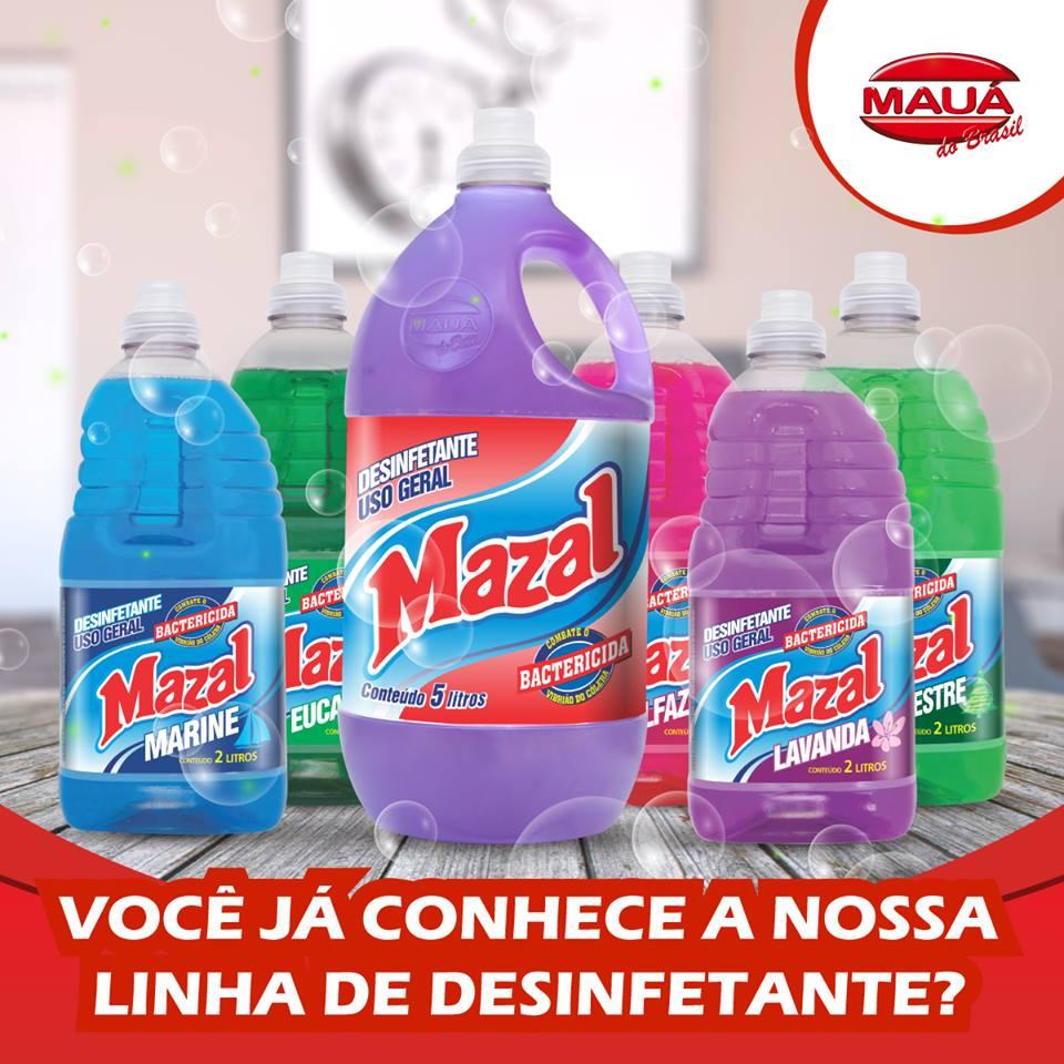 Você já conhece a nossa linha de desinfetantes MAZAL?