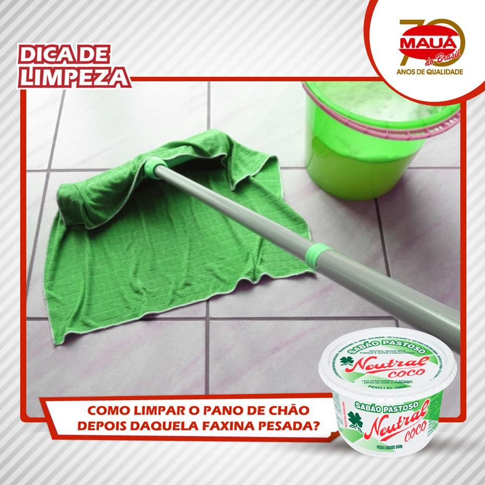 Limpando seu pano de chão
