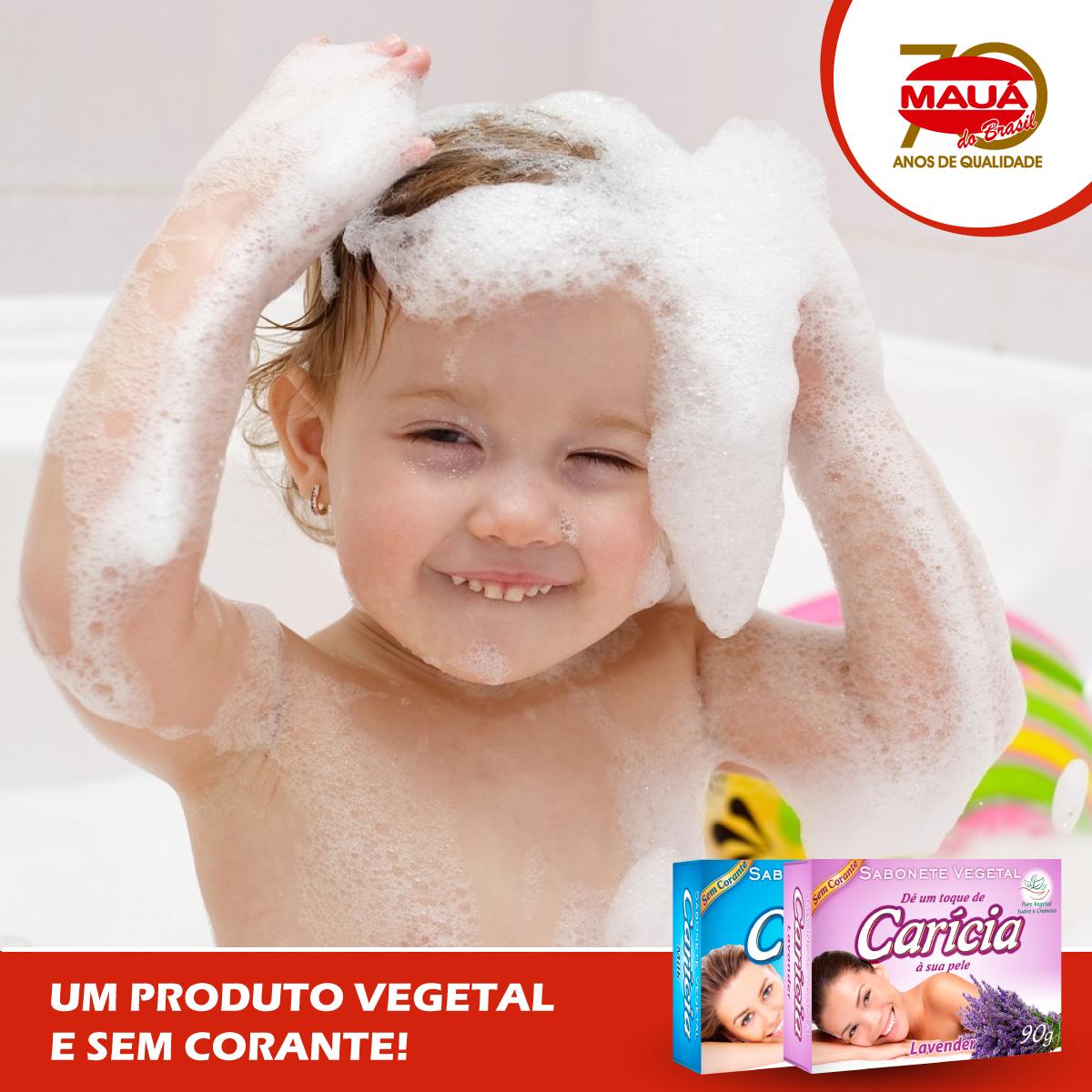 Sabonete Carícia – Ideal para toda família.