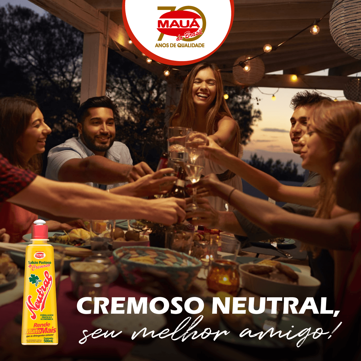 Dia do amigo com Cremoso Neutral!