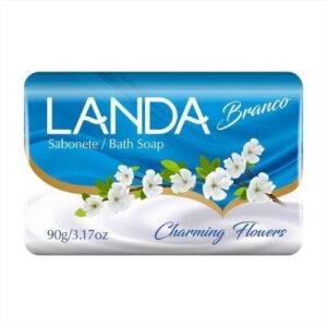 Sabonete em Barra para Corpo Landa Charming Flowers Mauá do Brasil – Kit com 12 unid